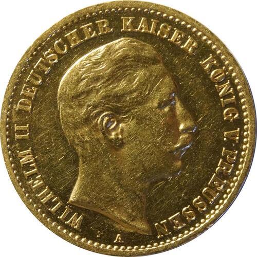 Vorderseite:Deutschland : 10 Mark   1910 vz/Stgl.