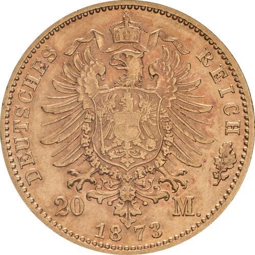 Rückseite:Deutschland : 20 Mark   1873 f.ss