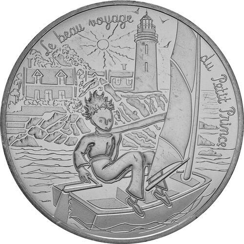 Vorderseite:Frankreich : 10 Euro 13/24 Der kleine Prinz beim Segeln  2016 bfr