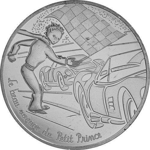 Vorderseite:Frankreich : 10 Euro 15/24 Der kleine Prinz auf der Auto-Rennstrecke  2016 bfr