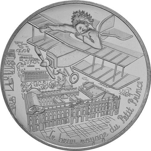 Vorderseite:Frankreich : 10 Euro 16/24 Der kleine Prinz im Flugzeug  2016 bfr