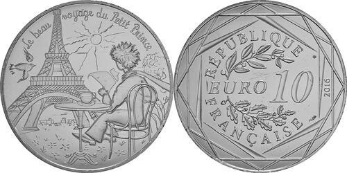 Lieferumfang:Frankreich : 10 Euro 17/24 Der kleine Prinz in Paris  2016 bfr