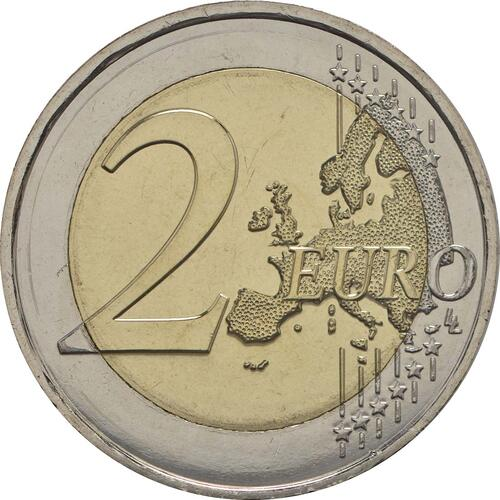 Vorderseite :Malta : 2 Euro Solidarität durch Liebe  2016 bfr