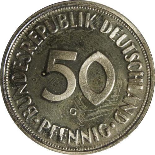 Vorderseite:Deutschland : 50 PFennig Kursmünze  1969 PP