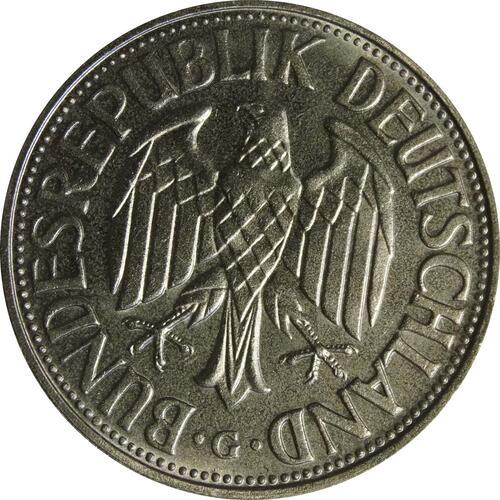 Rückseite:Deutschland : 1 DM Kursmünze  1956 bfr