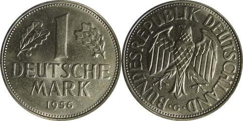 Lieferumfang:Deutschland : 1 DM Kursmünze  1956 bfr