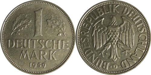 Lieferumfang:Deutschland : 1 DM Kursmünze  1959 vz.