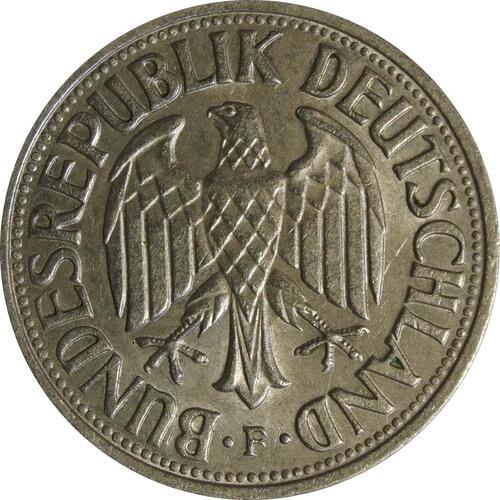 Rückseite:Deutschland : 1 DM Kursmünze  1960 vz.