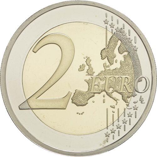 Vorderseite :Griechenland : 2 Euro 150. Jahrestag der Brandstiftung im Arkadi-Kloster  2016 PP