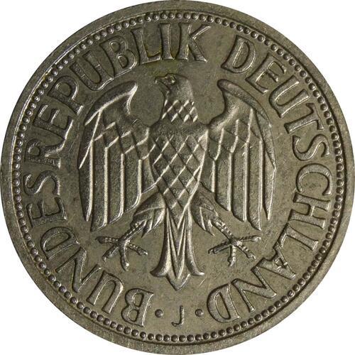 Rückseite :Deutschland : 1 DM Kursmünze  1961 vz.