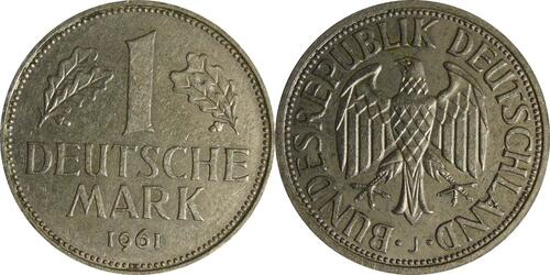 Lieferumfang :Deutschland : 1 DM Kursmünze  1961 vz.