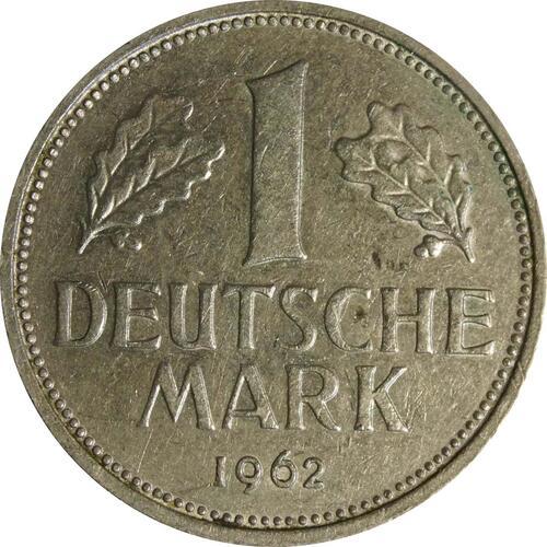 Vorderseite:Deutschland : 1 DM Kursmünze  1962 vz.