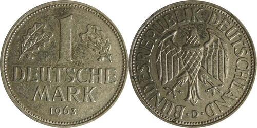 Lieferumfang :Deutschland : 1 DM Kursmünze  1963 vz.