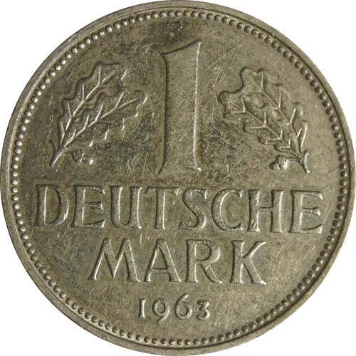 Vorderseite :Deutschland : 1 DM Kursmünze  1963 vz.