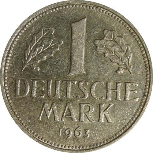 Vorderseite:Deutschland : 1 DM Kursmünze  1963 vz.