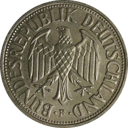 Rückseite :Deutschland : 1 DM Kursmünze  1964 vz.