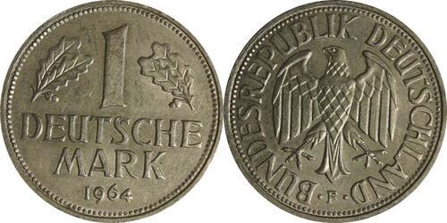 Lieferumfang :Deutschland : 1 DM Kursmünze  1964 vz.
