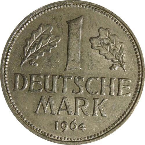 Vorderseite:Deutschland : 1 DM Kursmünze  1964 vz.