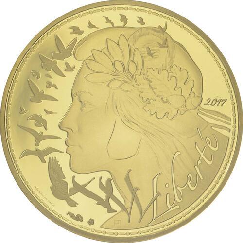 Vorderseite:Frankreich : 250 Euro Marianne  2017 Stgl.