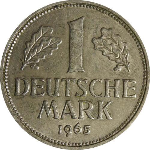 Vorderseite :Deutschland : 1 DM Kursmünze  1965 vz/Stgl.