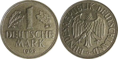 Lieferumfang:Deutschland : 1 DM Kursmünze  1965 vz.