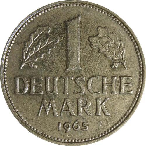 Vorderseite:Deutschland : 1 DM Kursmünze  1965 vz.