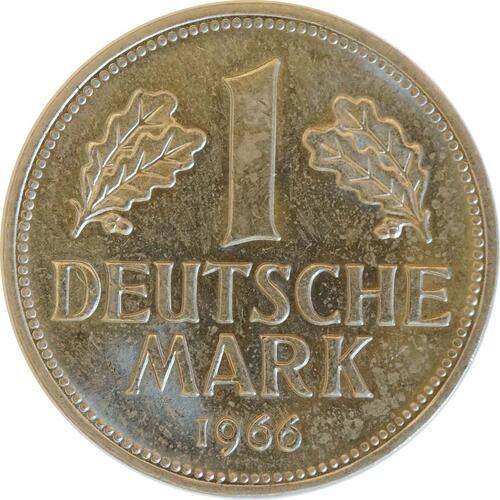 Vorderseite:Deutschland : 1 DM Kursmünze  1966 Stgl.