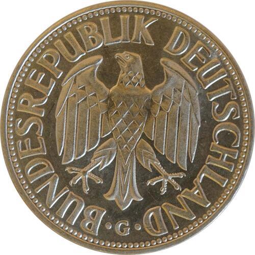Rückseite:Deutschland : 1 DM Kursmünze  1966 Stgl.