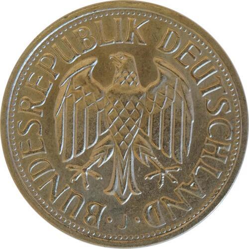 Rückseite:Deutschland : 1 DM Kursmünze  1967 Stgl.
