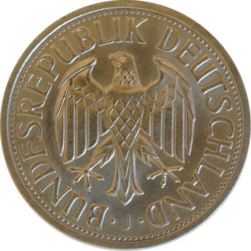 Rückseite :Deutschland : 1 DM Kursmünze  1967 Stgl.