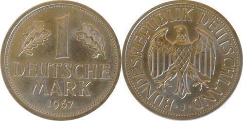 Lieferumfang :Deutschland : 1 DM Kursmünze  1967 Stgl.