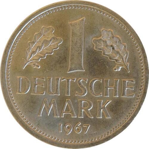 Vorderseite :Deutschland : 1 DM Kursmünze  1967 Stgl.