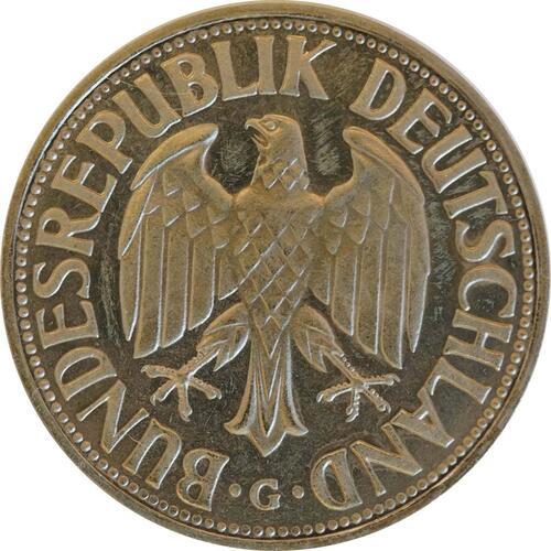 Rückseite:Deutschland : 1 DM Kursmünze -fein- 1968 Stgl.