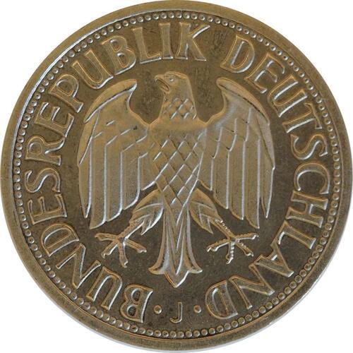 Rückseite:Deutschland : 1 DM Kursmünze -fein-, -seltene Erhaltung- 1968 Stgl.