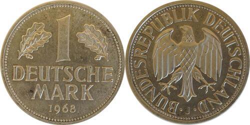 Lieferumfang:Deutschland : 1 DM Kursmünze -fein-, -seltene Erhaltung- 1968 Stgl.