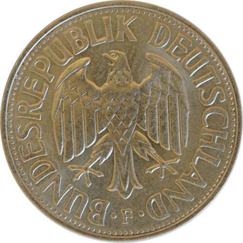 Rückseite :Deutschland : 1 DM Kursmünze  1969 Stgl.