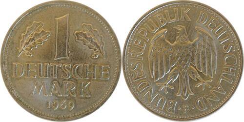 Lieferumfang :Deutschland : 1 DM Kursmünze  1969 Stgl.