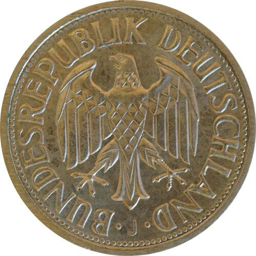 Rückseite:Deutschland : 1 DM Kursmünze  1969 Stgl.