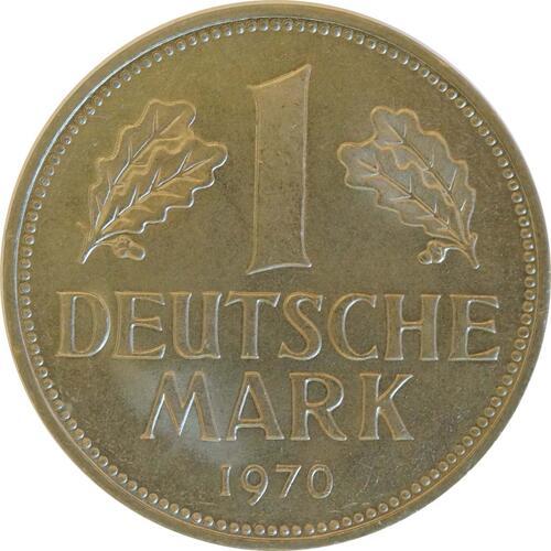 Vorderseite :Deutschland : 1 DM Kursmünze  1970 Stgl.