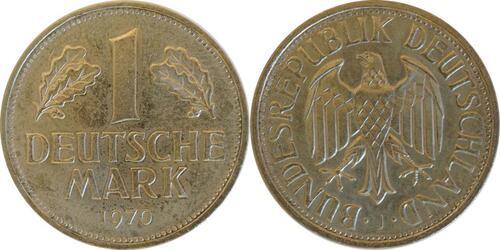Lieferumfang:Deutschland : 1 DM Kursmünze  1970 Stgl.