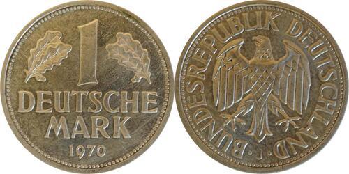 Lieferumfang :Deutschland : 1 DM Kursmünze  1970 Stgl.