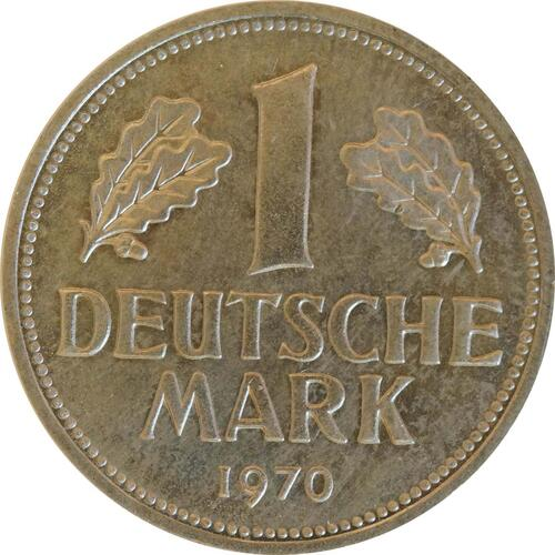 Vorderseite:Deutschland : 1 DM Kursmünze  1970 Stgl.