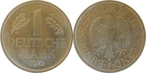 Lieferumfang:Deutschland : 1 DM Kursmünze  1972 Stgl.