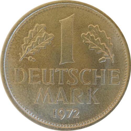 Vorderseite:Deutschland : 1 DM Kursmünze  1972 Stgl.