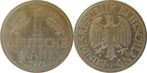 Lieferumfang:Deutschland : 1 DM Kursmünze  1973 Stgl.