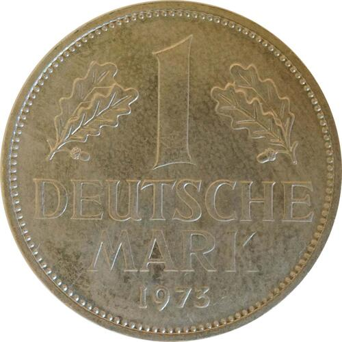 Vorderseite:Deutschland : 1 DM Kursmünze  1973 Stgl.