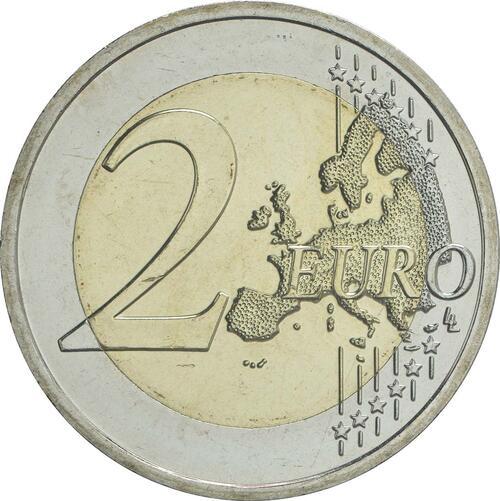 Vorderseite:Slowakei : 2 Euro Universität Istropolitana - 550. Jahrestag  2017 bfr