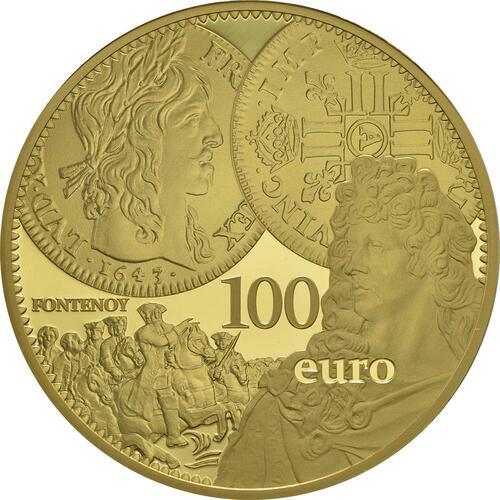 Vorderseite:Frankreich : 100 Euro Louis d'or  2017 PP