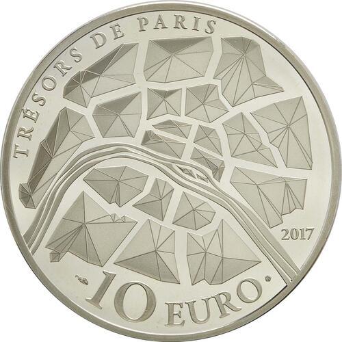 Rückseite:Frankreich : 10 Euro Freiheitsstatue  2017 PP