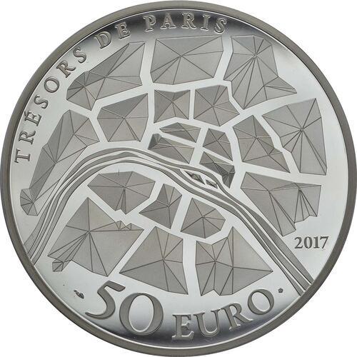 Rückseite :Frankreich : 50 Euro Freiheitsstatue  2017 PP